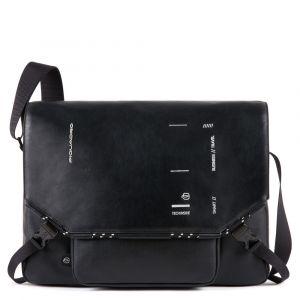 Messenger Porta Tablet - PIQUADRO CA4925S106 in Pelle Nera