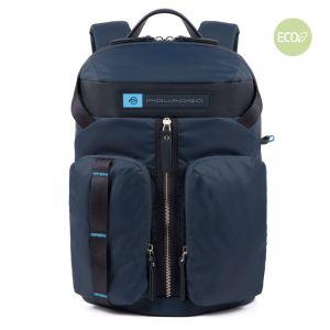 Zaino Piquadro in Nylon Rigenerato Blu Porta Tablet - CA5038BIO Linea PQ - Bios