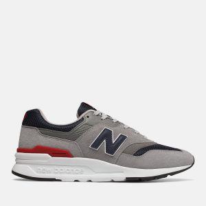Scarpe Uomo NEW BALANCE Sneakers 997H in Pelle Scamosciata e Mesh colore Grey Navy e Red