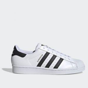 Scarpe ADIDAS Sneakers linea Superstar in Pelle colore Bianco e Nero