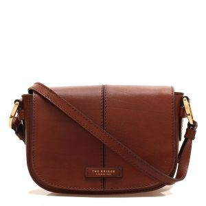 Borsa Donna a Tracolla Media THE BRIDGE in Pelle Marrone linea Faentina