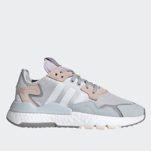 Scarpe Donna ADIDAS Sneakers linea Nite Jogger W colore Grigio Bianco e Rosa
