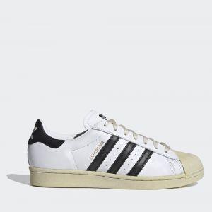 Scarpe Unisex ADIDAS Sneakers linea Superstar in Pelle colore Bianco e Nero FV2831
