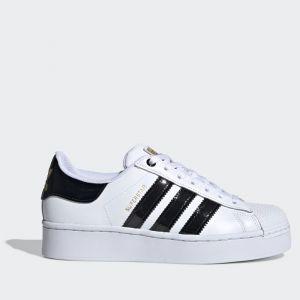 Scarpe Donna ADIDAS Sneakers linea Superstar Bold W colore Bianco e Nero