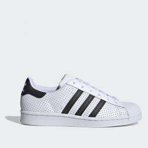 Scarpe Donna ADIDAS Sneakers linea Superstar in Pelle Traforata colore Bianco e Nero