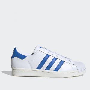 Scarpe Donna ADIDAS Sneakers linea Superstar in Pelle colore Bianco e Azzurro