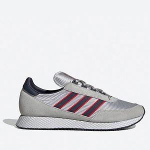 Scarpe Uomo ADIDAS Sneakers linea Glenbuck colore Grigio Blu e Rosso