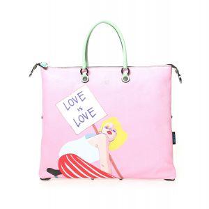 Borsa Donna a Mano GABS G3 Super Trasformabile in Pelle stampa Love is Love Medium