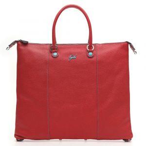 Borsa Donna a Mano con Tracolla GABS G3 Plus Trasformabile in Pelle Opaca Rossa Large