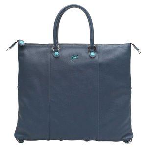 Borsa Donna a Mano con Tracolla GABS G3 Plus Trasformabile in Pelle Opaca Blu Notte Large