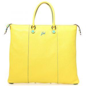 Borsa Donna a Mano con Tracolla GABS G3 Plus Trasformabile in Pelle Opaca Giallo Limone Large