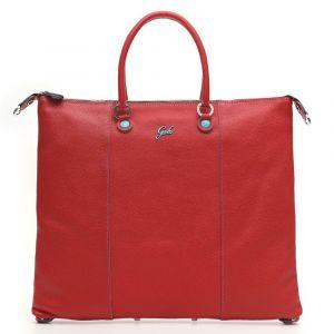 Borsa Donna a Mano con Tracolla GABS G3 Plus Trasformabile in Pelle Opaca Rossa Media