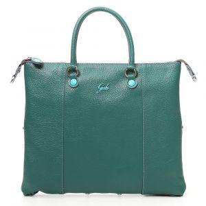 Borsa Donna a Mano con Tracolla GABS G3 Plus Trasformabile in Pelle Opaca Verde Bottiglia Media