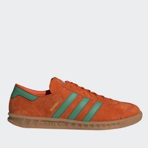 Scarpe Uomo ADIDAS Sneakers linea Hamburg in Pelle Arancione e Verde
