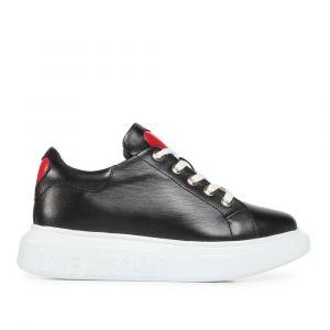 Scarpe Donna LOVE MOSCHINO Sneakers in Pelle Nero