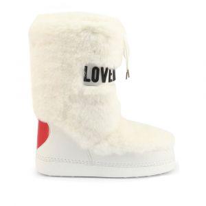 Scarpe Donna LOVE MOSCHINO Stivali da Neve con Dettaglio Eco Fur Bianco
