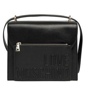 Borsa Donna Doppia Portabilità LOVE MOSCHINO Nero con Logo su Tasca