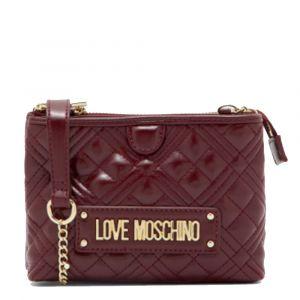 Borsa Donna Piccola a Tracolla LOVE MOSCHINO linea Quilted Bordeaux