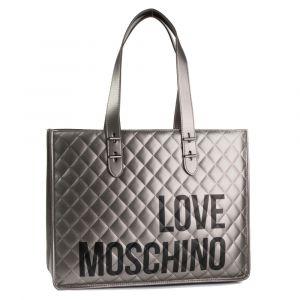 Borsa Donna Shopper a Spalla LOVE MOSCHINO linea I Love Shopping Canna di Fucile