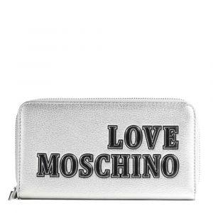 Portafoglio Donna Zip Around LOVE MOSCHINO linea Love Moschino Tags Argento