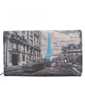 Portafoglio Donna con Bottone Y NOT K-364 Blue Rain