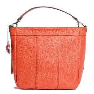 Borsa Donna a Spalla GABS Linea Kate Trasformabile in Pelle color Mandarino Medium