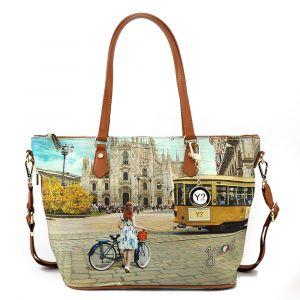 Borsa Donna Y NOT Shopping a Spalla con Tracolla L-397 Fashion Tram