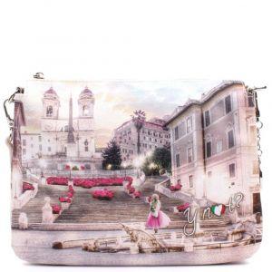 Borsa Donna a Tracolla 3 Comparti Y NOT L-399 Pink Rome