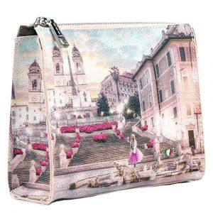 Beauty con Zip Y NOT stampa Pink Rome L-305