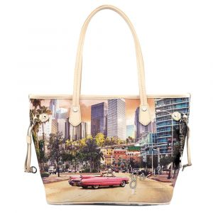 Borsa Donna Y NOT Shopping Media a Spalla L-336 Miami