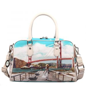 Borsa Donna Y NOT Bauletto con Tracolla L-337 Golden Gate