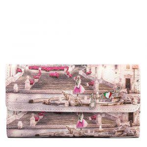 Portafoglio Donna Medio con Bottone Y NOT L-369 Pink Rome