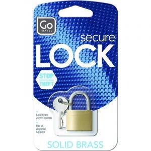 Lucchetto in Ottone per Valigie e Trolley - Design Go Secure Lock
