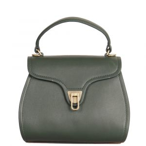 Borsa Donna a Mano COCCINELLE in Pelle Liscia linea Marvin Mini colore Mallard Green