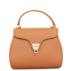 Borsa Donna a Mano COCCINELLE in Pelle linea Marvin Mini colore Caramel