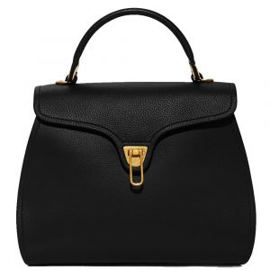Borsa Donna a Mano COCCINELLE in Pelle linea Marvin Medium colore Nero