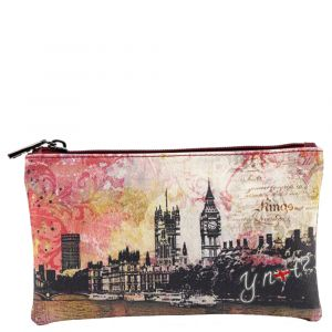 Bustina Donna con zip Y Not Dark Red Linea Material City London MAT-341