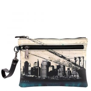 Pochette Donna con Zip Y NOT linea Material City MAT-342 New York
