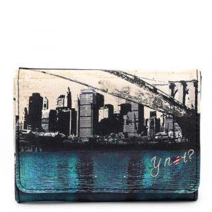 Portafoglio Donna con Bottone Y NOT MAT-346 Città Materica New York