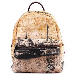 Zaino Donna Piccolo Y NOT con Tasca Esterna linea Material City MAT-380 Parigi