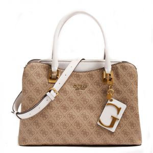 Borsa Donna a Mano GUESS linea Mika colore Brown Multi