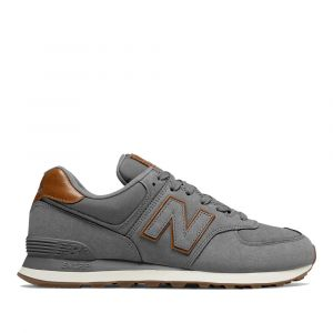 Scarpe Uomo NEW BALANCE Sneakers 574 in Nabuck colore Dark Grey