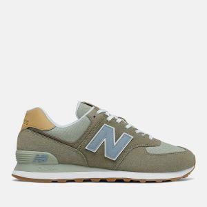 Scarpe Uomo NEW BALANCE Sneakers 574 in Suede e Tessuto colore Mushroom