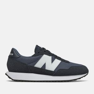 Scarpe Uomo NEW BALANCE Sneakers 237 in Suede e Mesh colore Vintage Indigo