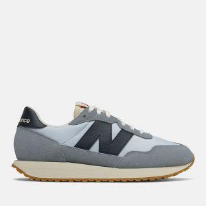 Scarpe Uomo NEW BALANCE Sneakers 237 in Suede e Nylon colore Reflection Blue