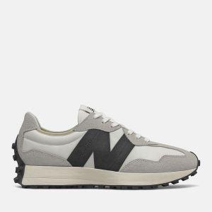 Scarpe Uomo NEW BALANCE Sneakers 327 in Suede e Mesh colore Sea Salt e Black