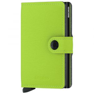 Porta Carte con Clip SECRID linea Yard in Microfibra Color Lime con RFID