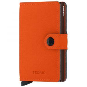 Porta Carte con Clip SECRID linea Yard in Microfibra Orange con RFID