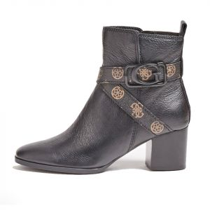 Stivaletto Donna GUESS in Pelle Nera linea Patina