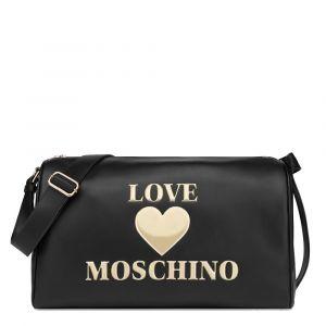 Borsone Donna a Spalla LOVE MOSCHINO linea Padded Heart Nero